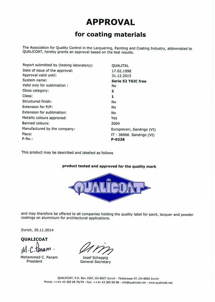 QUALICOAT P-0238