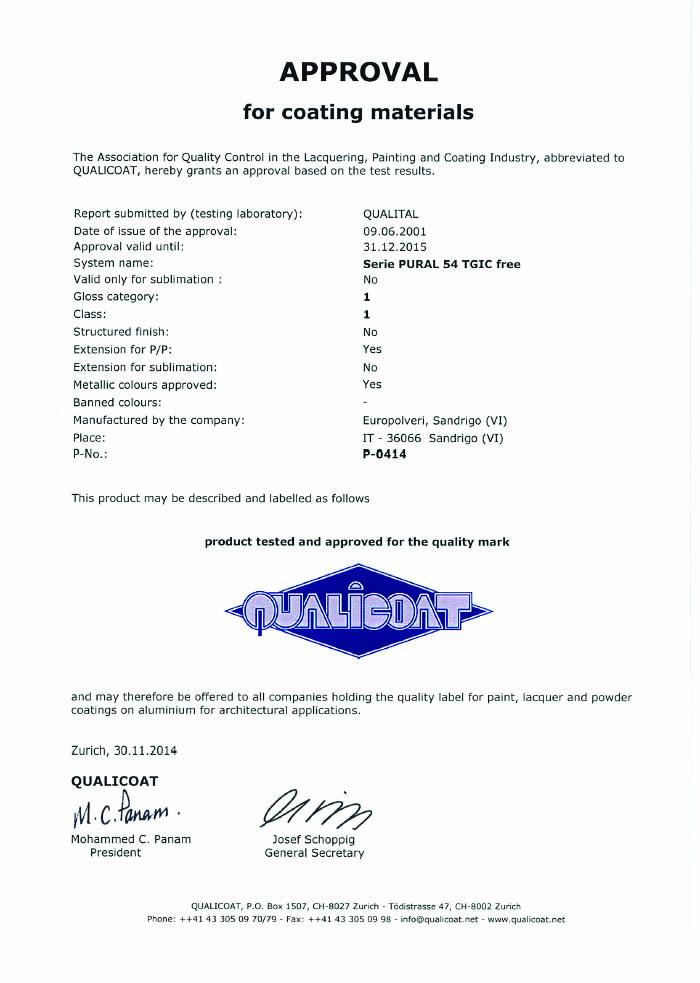 QUALICOAT P-0414