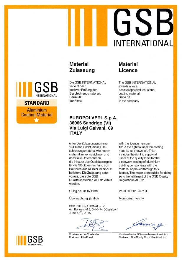 gsb сертификат